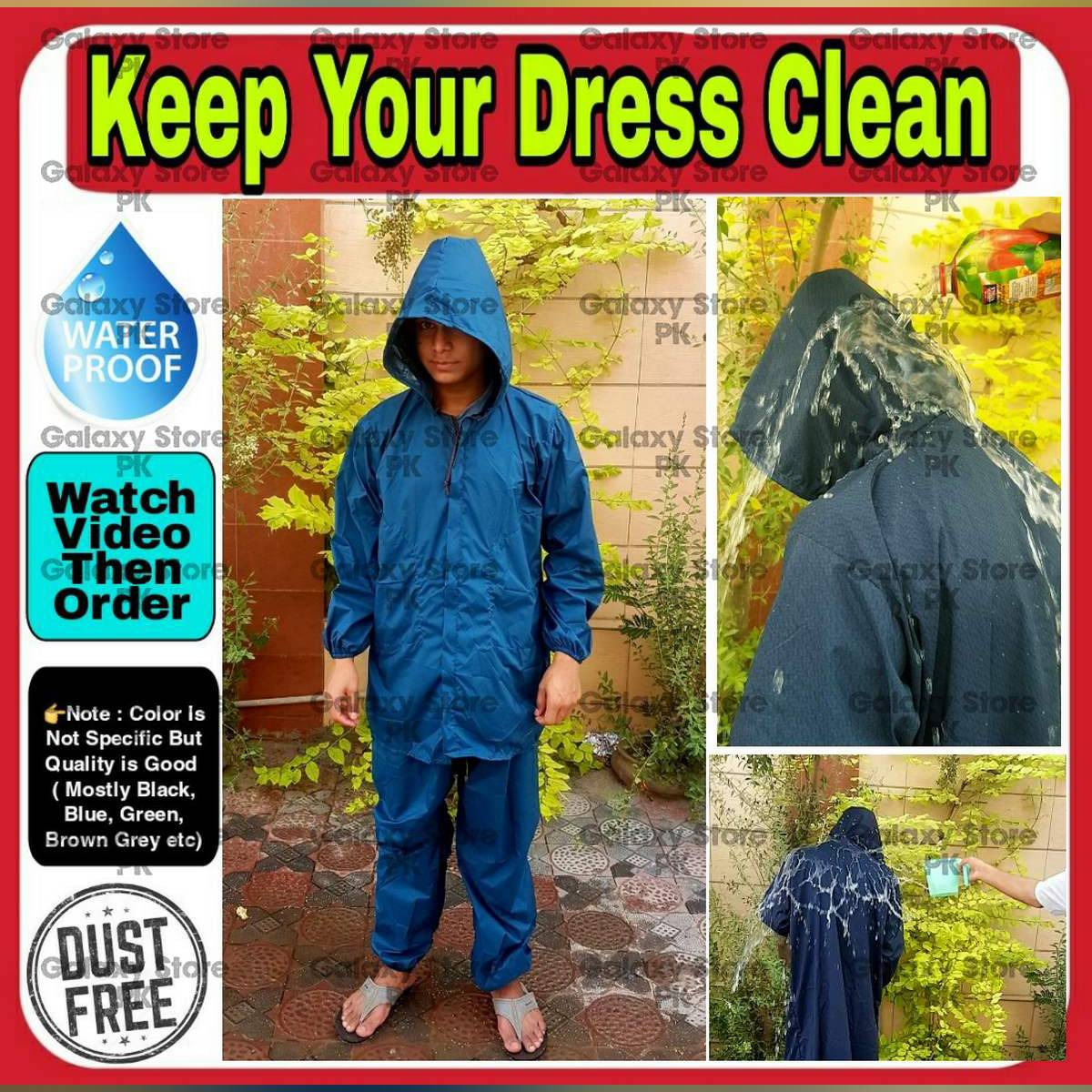 Alpha Rain Suit ( With Trouser ) For Rainy Season Used While Riding Motorcycle Travelling Camping Hiking Fishing Bike Rain Wear Rain Cover Portable