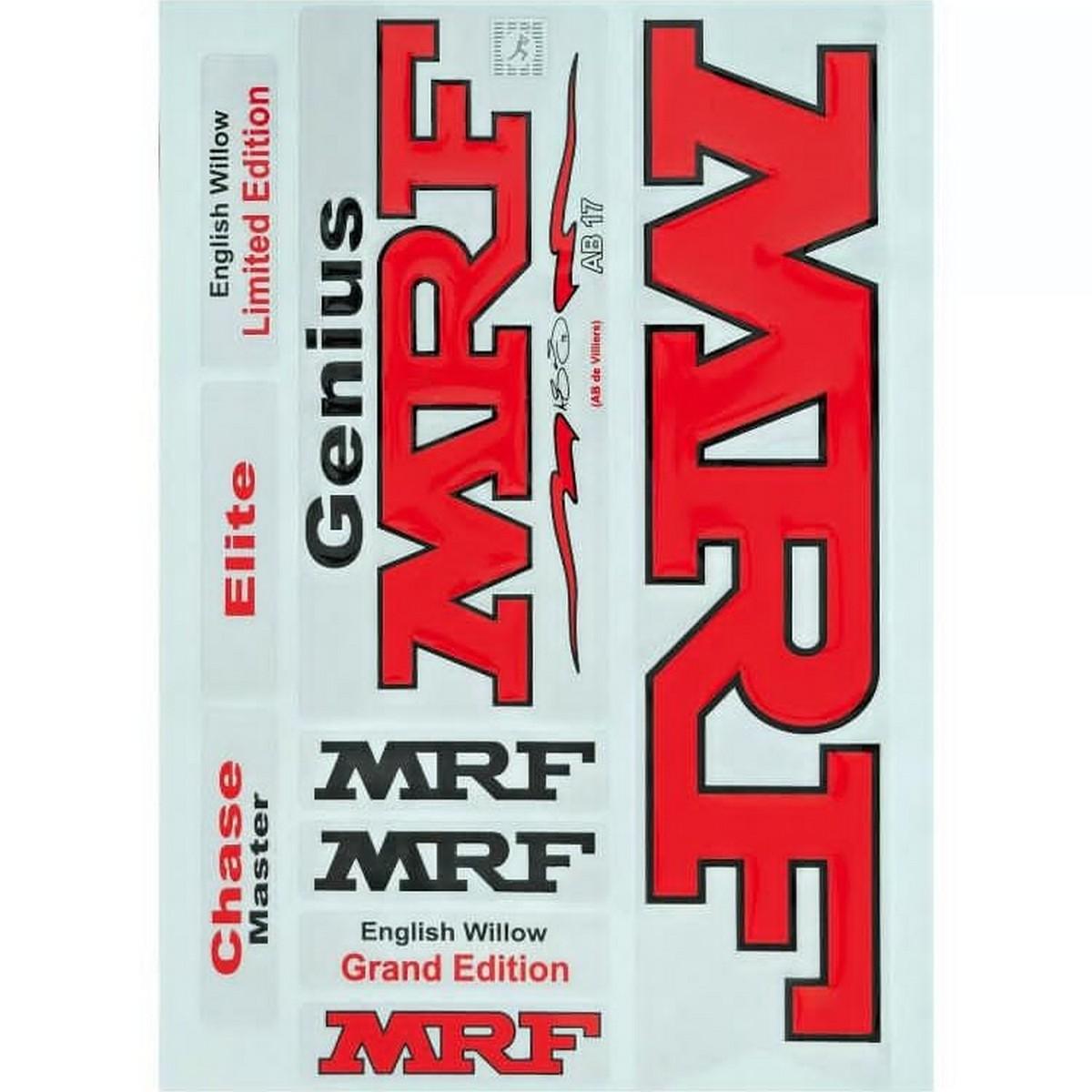 2d flat stickers all companies bat stickers mrf gm grey nicols universal boss
