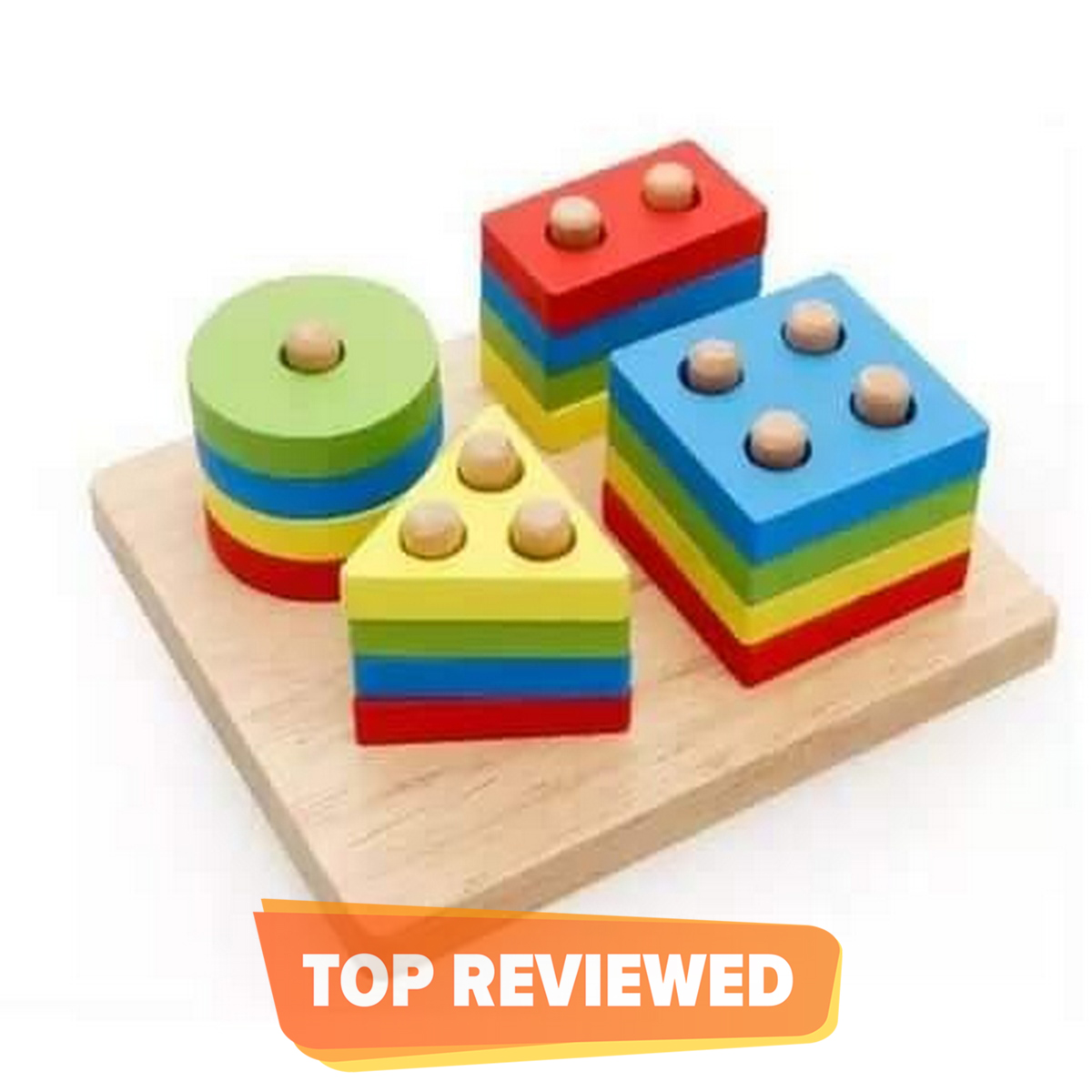 Wooden Puzzles Teaching Geometric Shape Cognitive Matching Toys colorful