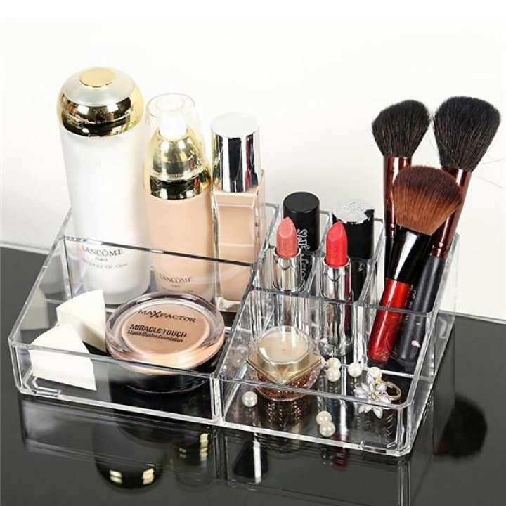 Acrylic High Quality Makeup Storage Box Transparent Cosmetic Jewelry Organizer Display Box Makeup Storage Rack Container