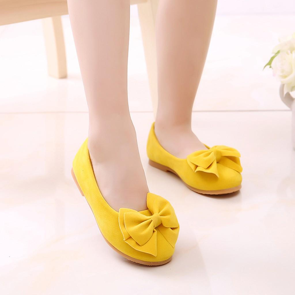9cbae8c8c4470 Perfect Meet Princess shoes Children Kid Baby Girls Solid Bowknot Student  Single Soft Dance Princess Shoes