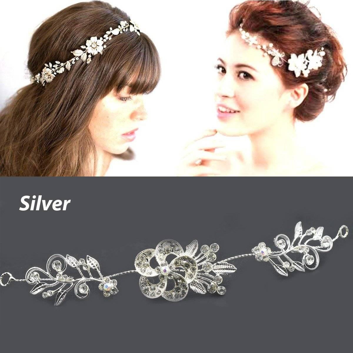 Wedding Tiara Hair Accessories Clips Romantic Crystal Pearl Flower Hair Comb Rhinestone Decorate Birde Hair Pins Jewelry S6339