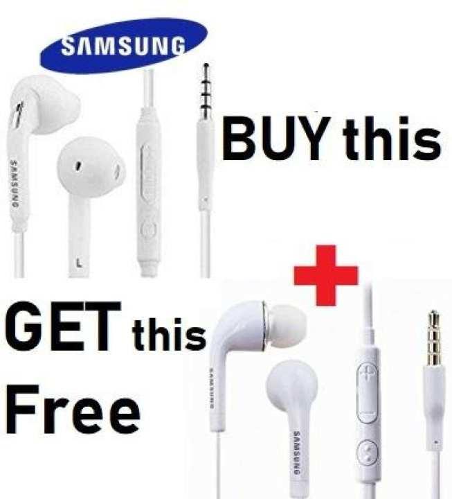 Buy 1 Get 1 FREE Samsung Handsfree Universal S6 White