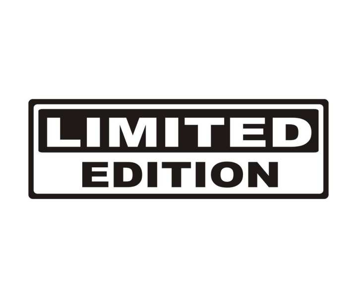 "3.6 cm x 10.4 cm popular Text ""LIMITED EDITION Black"" car sticker Window,Body and decal vinyl auto laptop, motorcycle sticker"