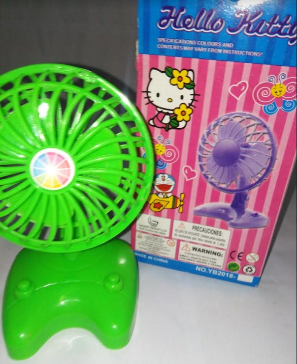 Real Stand Fan Toy For Doll House Battery Operated With On/Off Switch
