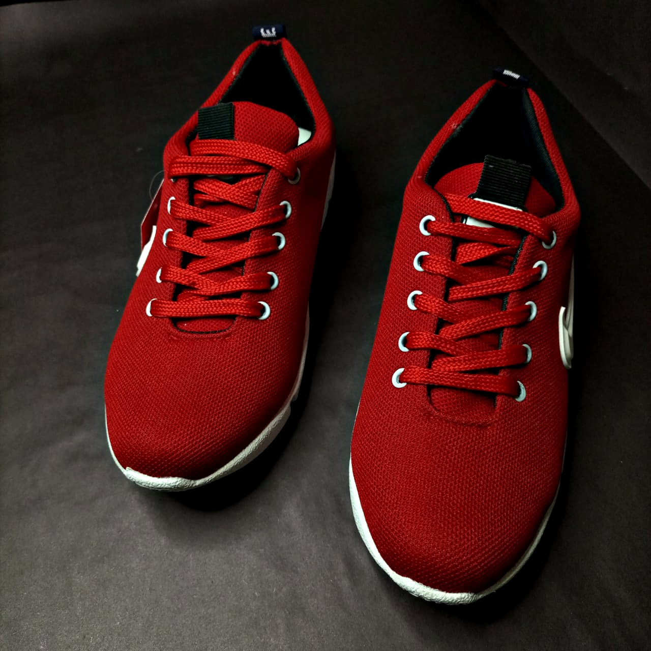 (MK) Grey & Red - Synthetic Material Sneakers for Men HOCK004
