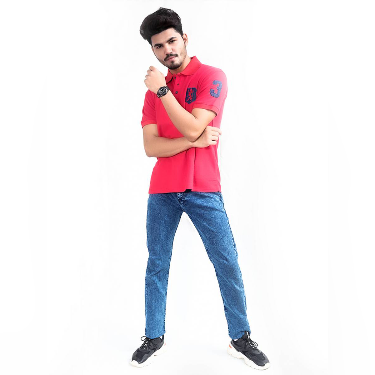 Cut Price Power Process Strechable Jeans for Men Dark Blue