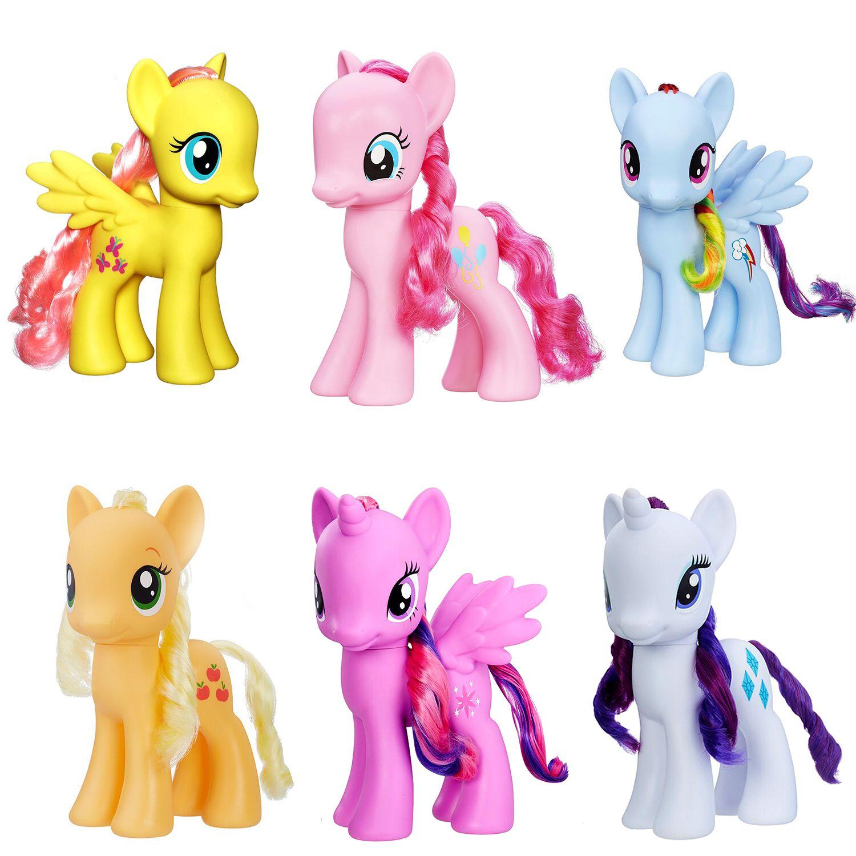 My little Pony Large 1pcs (18cm) _My Little Pony Toys Friendship is Magic Princess Rainbow Pinkie Pie Pony  Soft Stuffed Dolls .