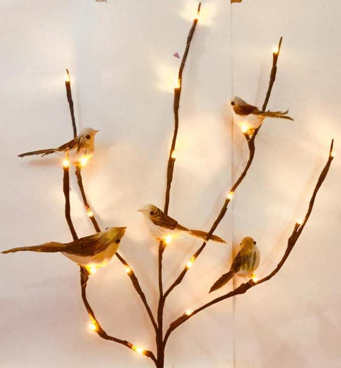 Branch light with Beautiful Birds Lamp Decoration Room High quality Brown Colour New Arrival
