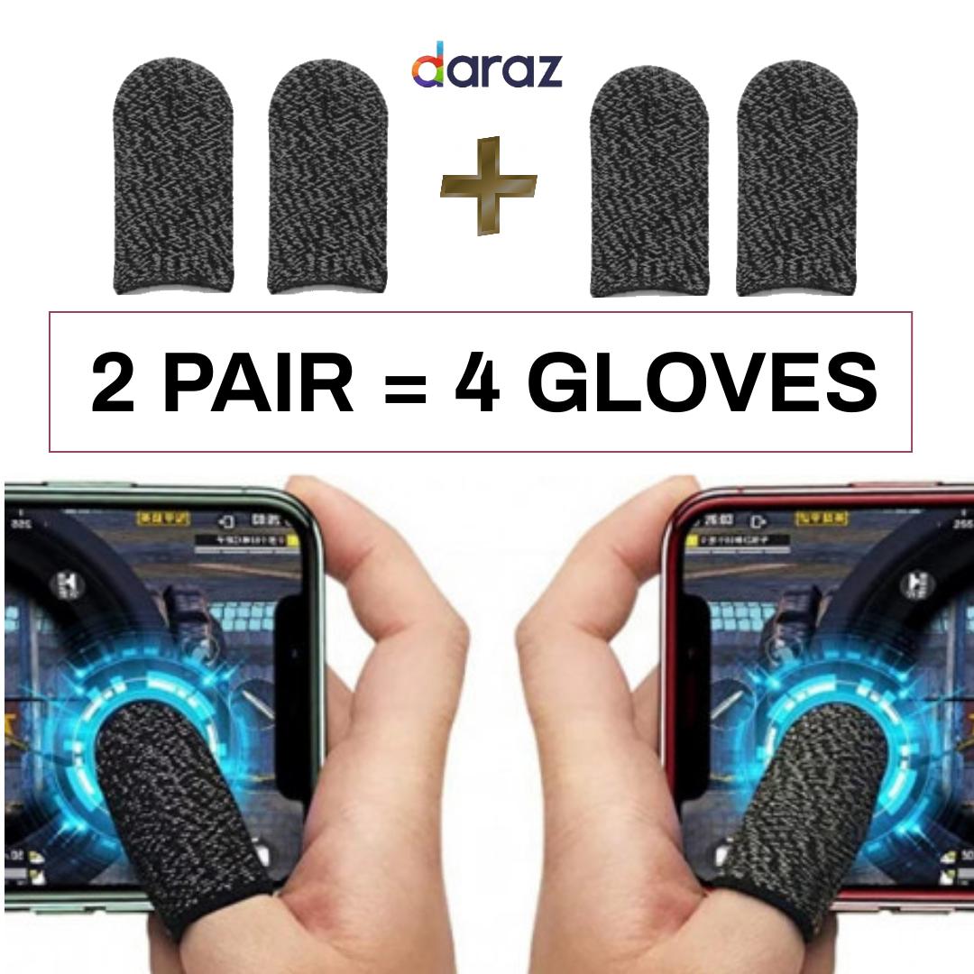 2 Pair / 4 Gloves Pubg Thumb Glove Finger Sleeve Cover Grip triger trigger