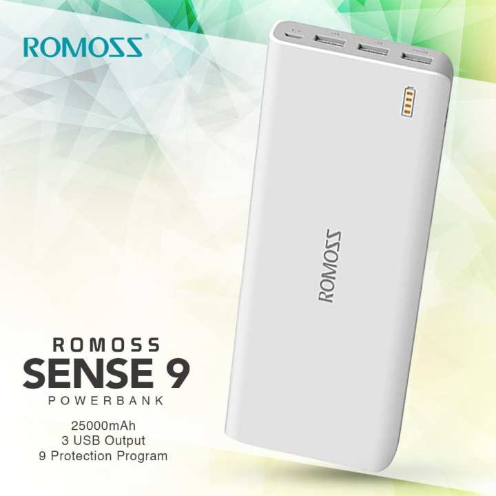 Sense 9 - 25000mAh Power Bank - White