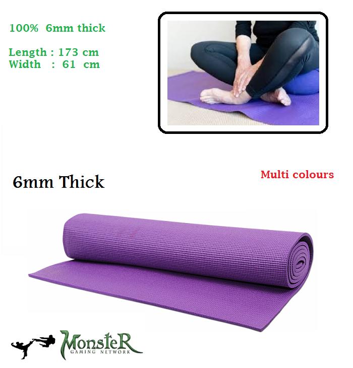 Yoga mat 6 mm Yoga Mat Exercise mat yoga ball mat soft mat travelling exercise fitness Multi colour