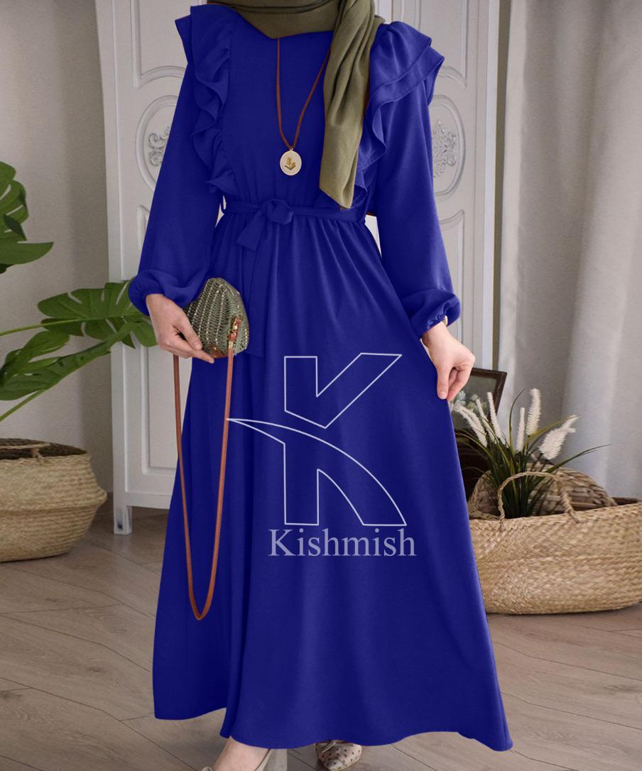 HY Boutique Polka Dot  Full Sleeves Long Maxi  new & latest PLUM COLOR Ease & Speed 100% Genuine Evening MAXI & Frock 20201 for wayfair face