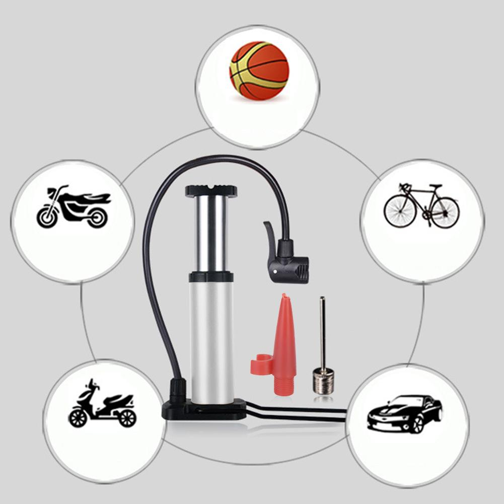 Swiming Pool Car Motor Cycle Bike Hydraulic Air Pump Mini Bike Foot Pump  with Ball Inflation Needle and Inflatable Device Valve Bicycle Tire Pump  for Road Mountain and BMX Bikes: Buy Online