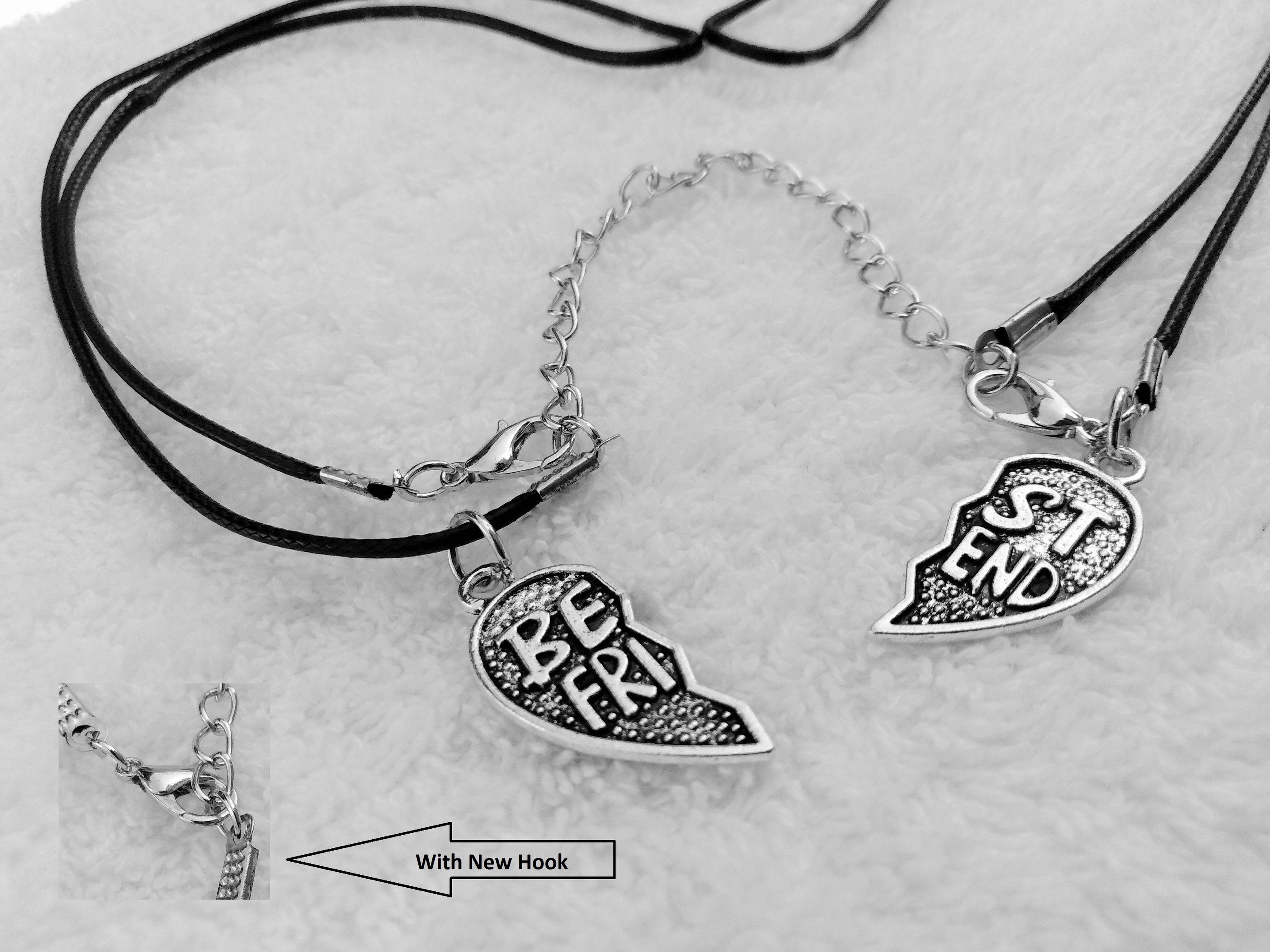2 pieces charming Best Friend Heart Locket Necklace valentine day gift