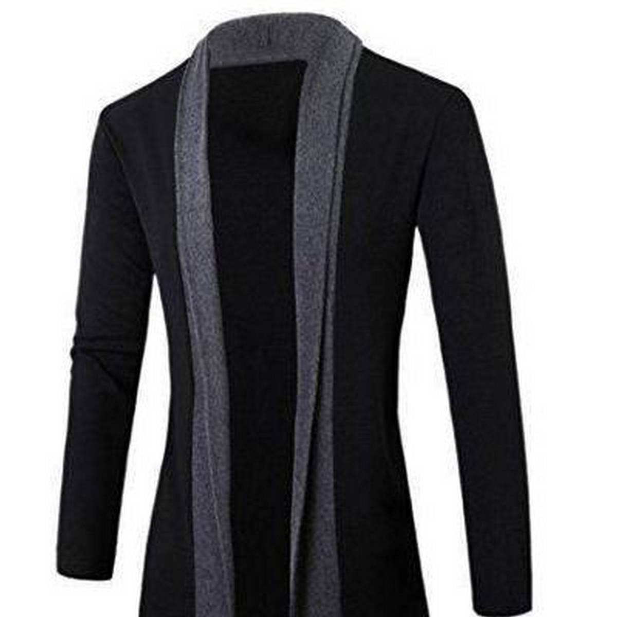 Oxygen Clothing Cardigan Black Charcoal Patch