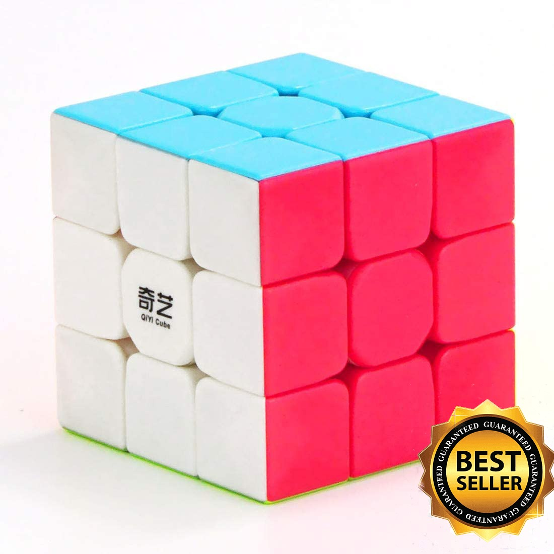 High quality rubik cube 3x3 multicolor smooth in playing Qiyi warrior Fast rubik cube 3x3x3 Best Toy for kids , teen and adults,The most educational toy to effectively improve your child concentration ,responsivness and memory,Rubik Cube