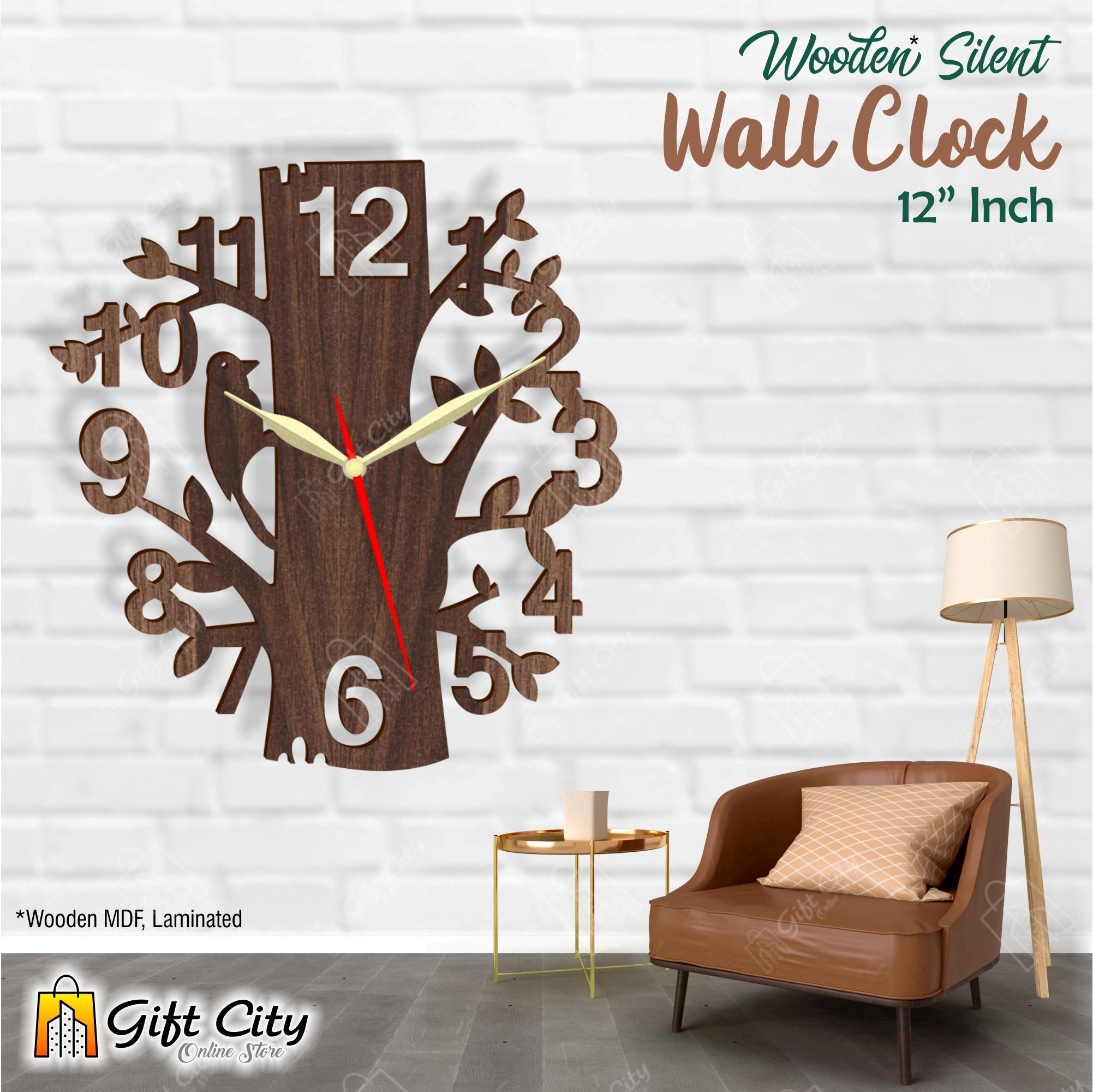Woodpecker 3D Silent Wooden / Acrylic Wall Clock - Home & Office Decor - Laser Cut - GIFT City