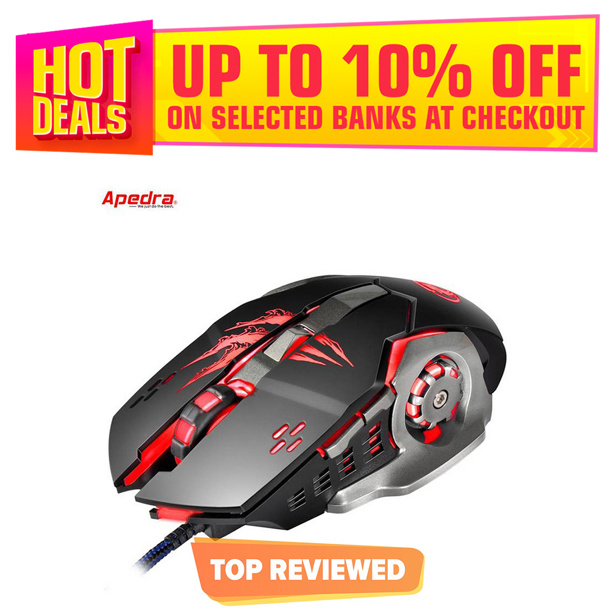 Gaming Mouse Mechanical 6 Programmable Buttons Mouse Battlegrounds Gamer Mouse for PC Computer
