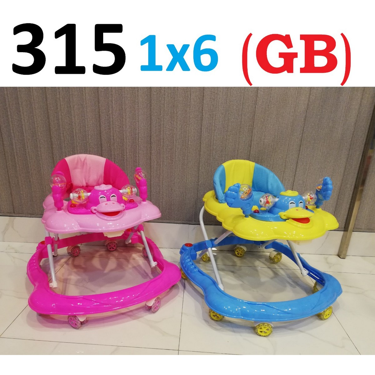 Baby Walker Duck Shape With Toys Hanger Imported Made