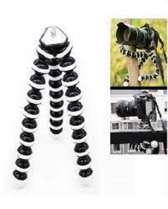 Gorilla Pod Flexible Tripod Stand Mini Octopus Tripod With Mobile Holder For Mobile Phone DSLR Gopro Digital Camera - Large Size (10 Inches)