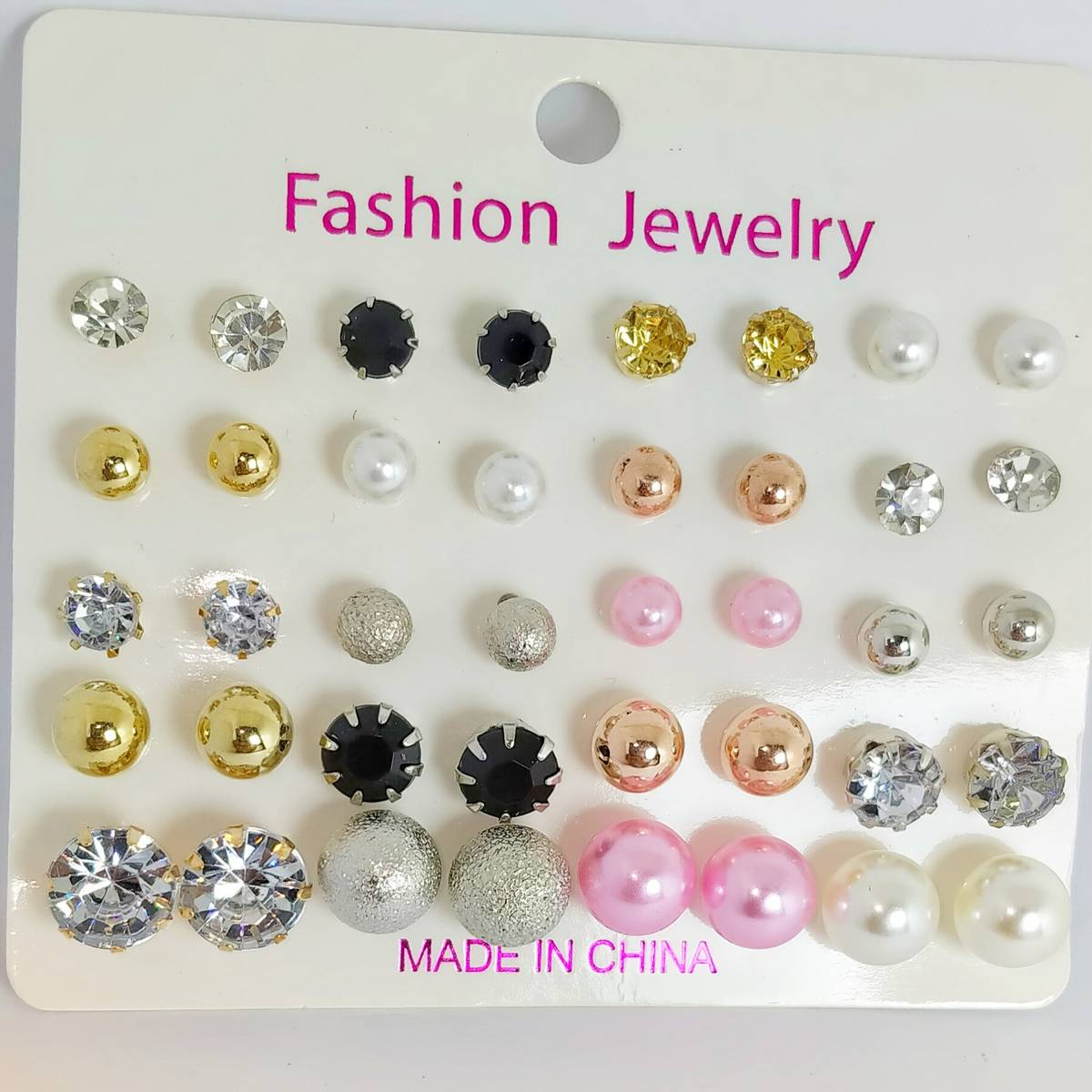 20 Pairs of New Eid High Quality Earrings Set In Different Colors For Girls Fashion Ear Rings Tops Studs
