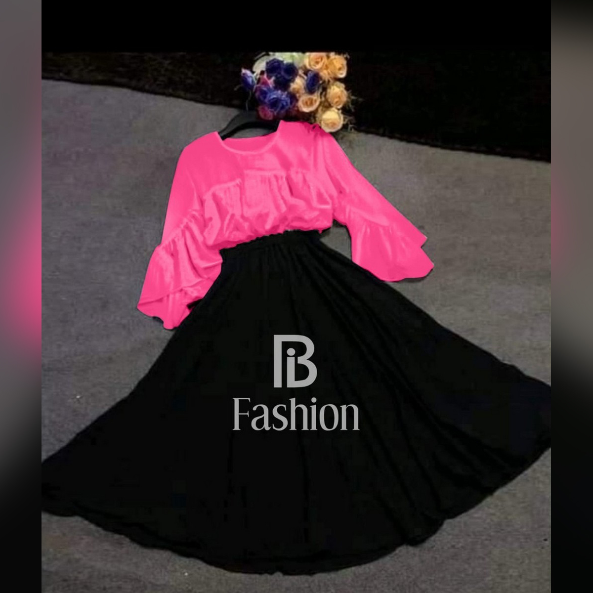 Butterfly style top with skirt /stitched for women/girls