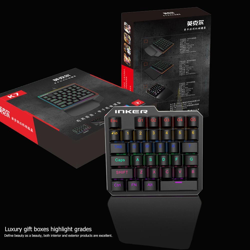 alloyseed k9 single hand mechanical gaming keyboard usb wired 35 keys backlit keypad buy. Black Bedroom Furniture Sets. Home Design Ideas