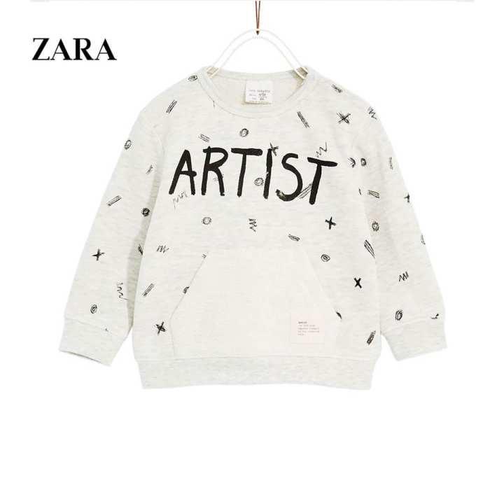 ZARA ARTISTIC PRINTED SWEATSHIRT