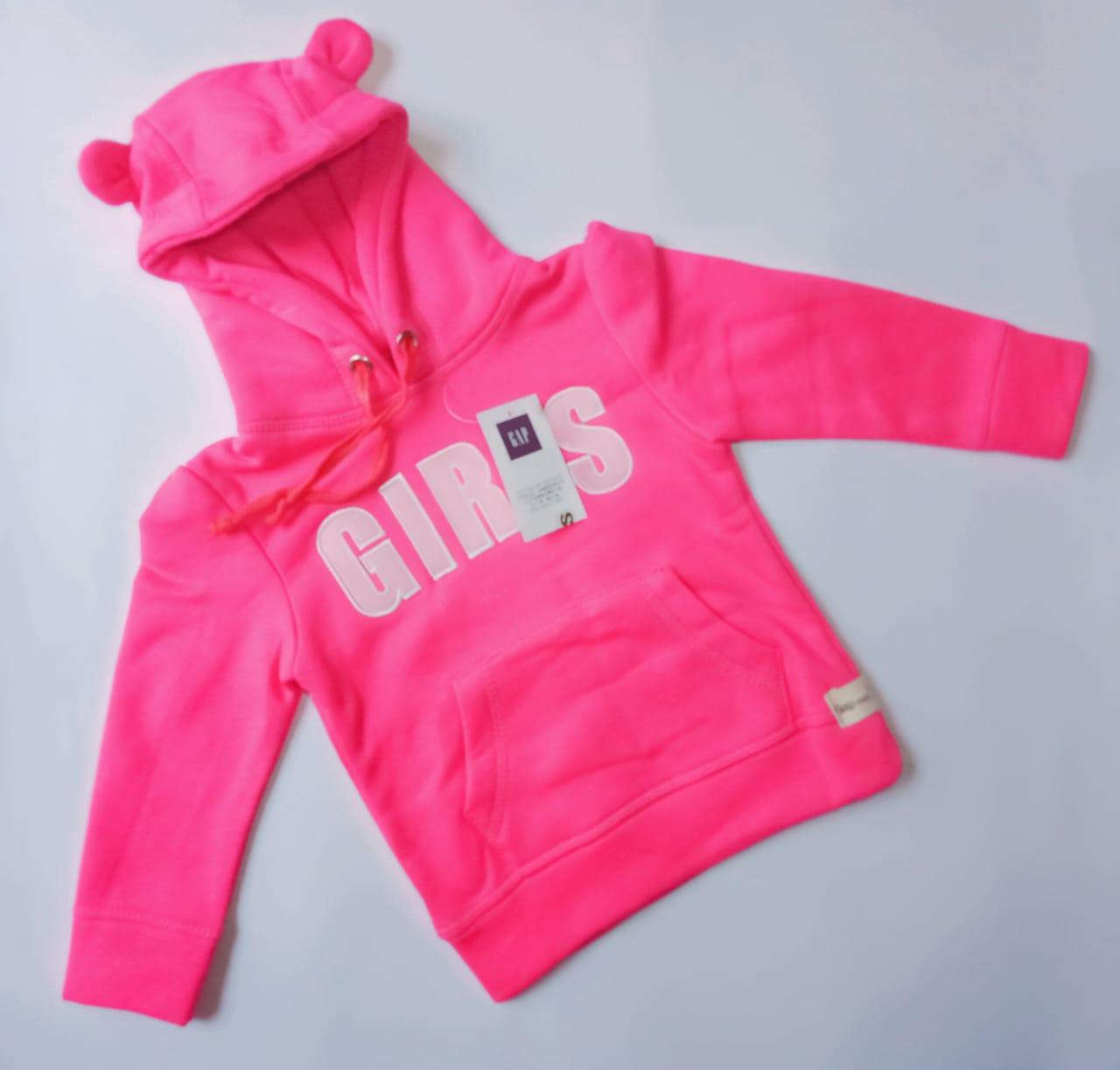 Baby Girl Stylish Hoodie For 12 Months - 3 Years