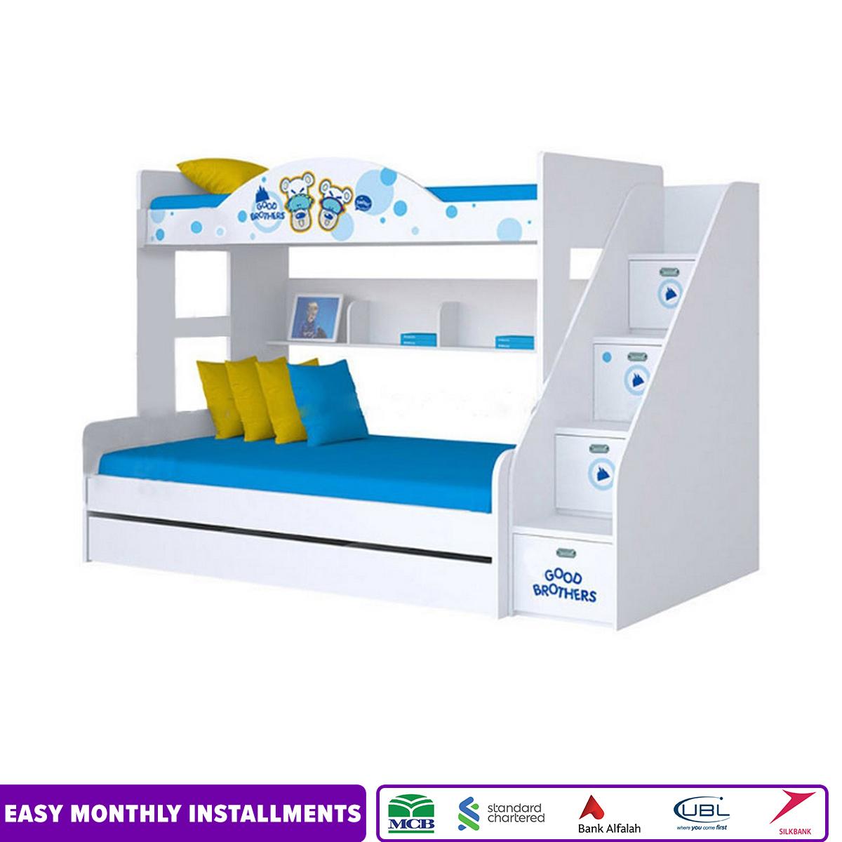 White Tripple Bunker Bed
