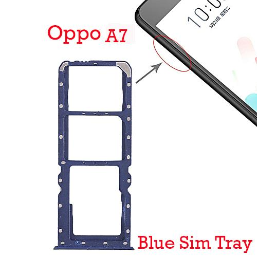 Oppo A7 Sim Tray For Oppo A7 Sim Jacket - Blue