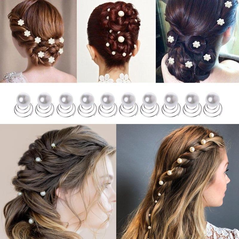 1pc White Pearl Studded Wedding Party Bridal Headpiece Tiara Headdress Hairband Headbands Hair Accessories Hairpins Hair Jewelry