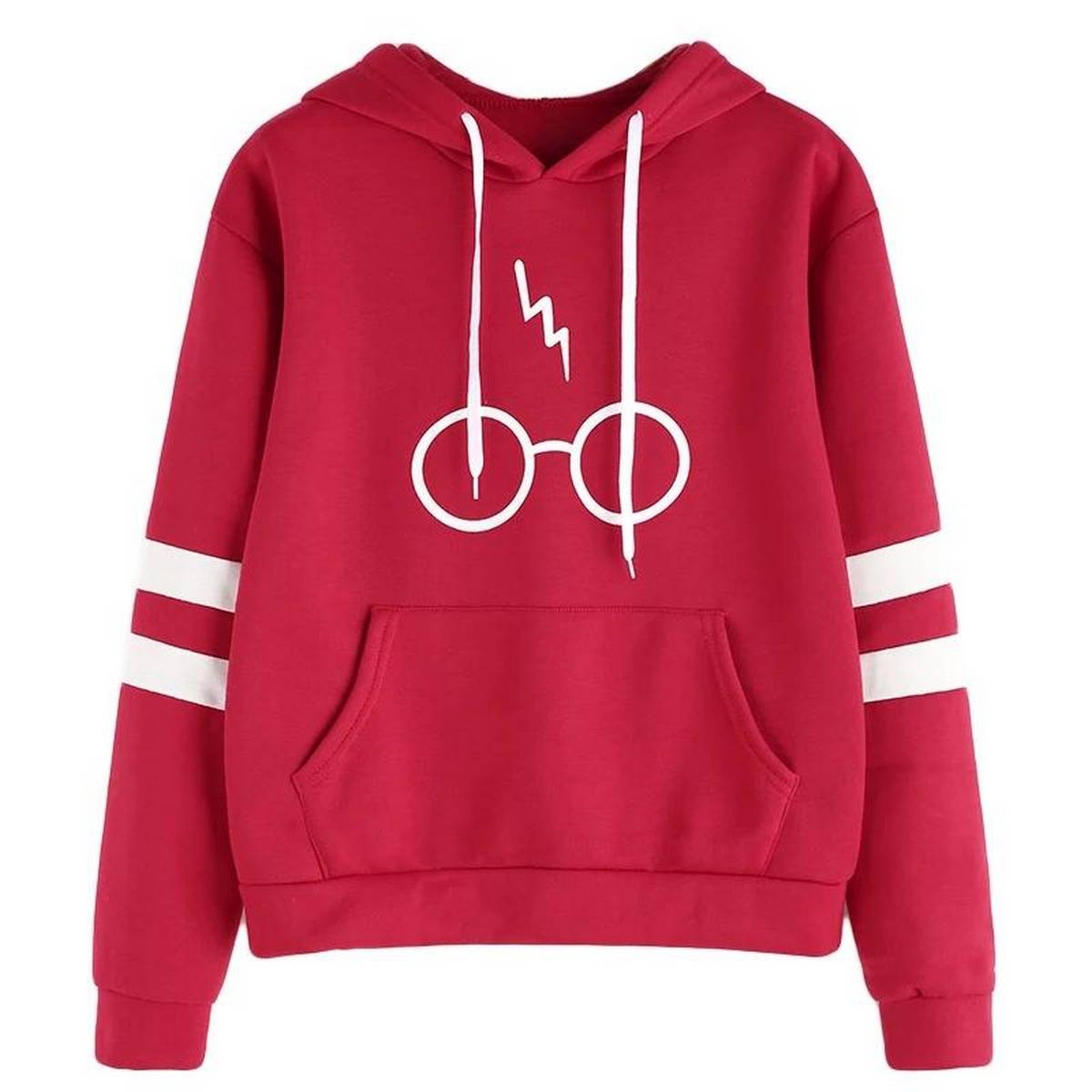 Harry Potter Double Strap Sleeve Printed Hoodie For Women