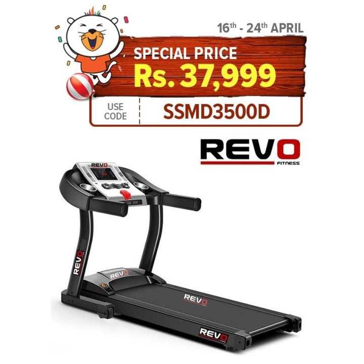 International Sports - RT100 Super Treadmill 3.0 HP Black