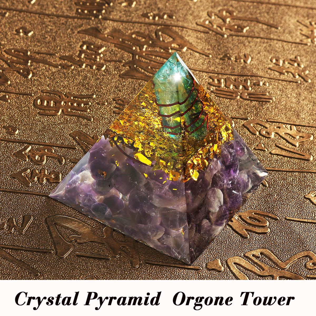 Himalayas Stone DecorationsOrgone Pyramid Energy Generator Tower Home Reiki  Healing Crystal