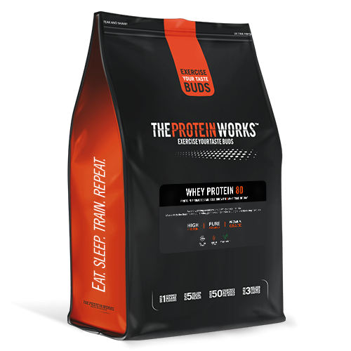 The Protein Works Whey Protein 80 - 1 kg (2.2 lbs) - Banana