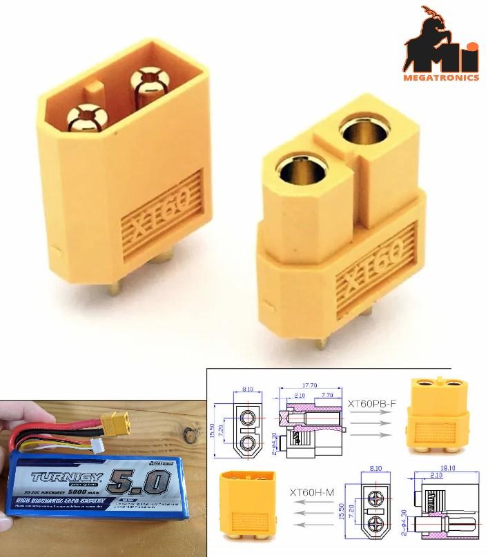 XT60 Connectors plugs Male/ Female RC lipo