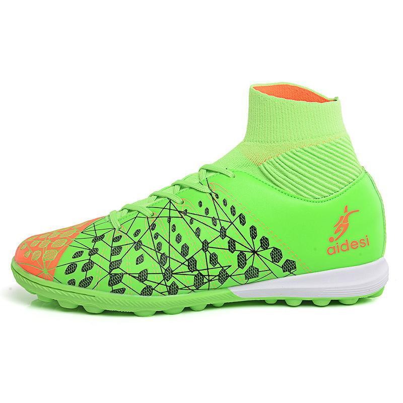 b38af2972c98 Men s Socks Football Shoes Classic Medium Upper High Quality 4Colors Men  Sports Training Shoes New Style