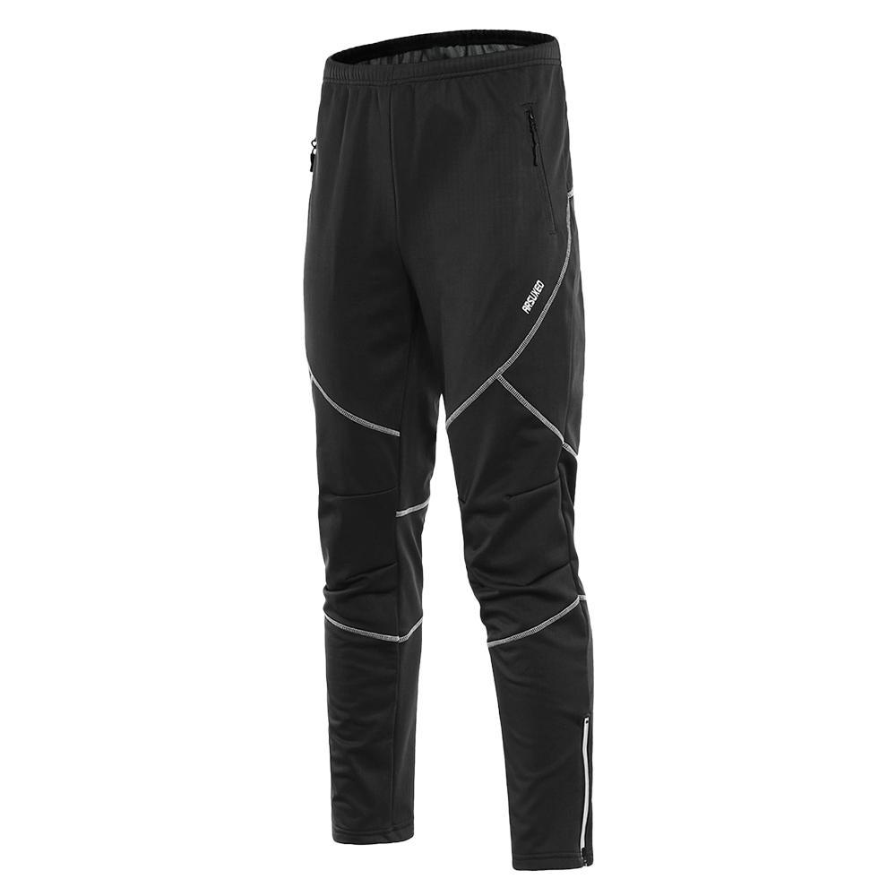 c44e3bbec Men's Waterproof Cycling Pants Thermal Fleece Windproof Winter Bike Riding  Running Sports Pants Trousers