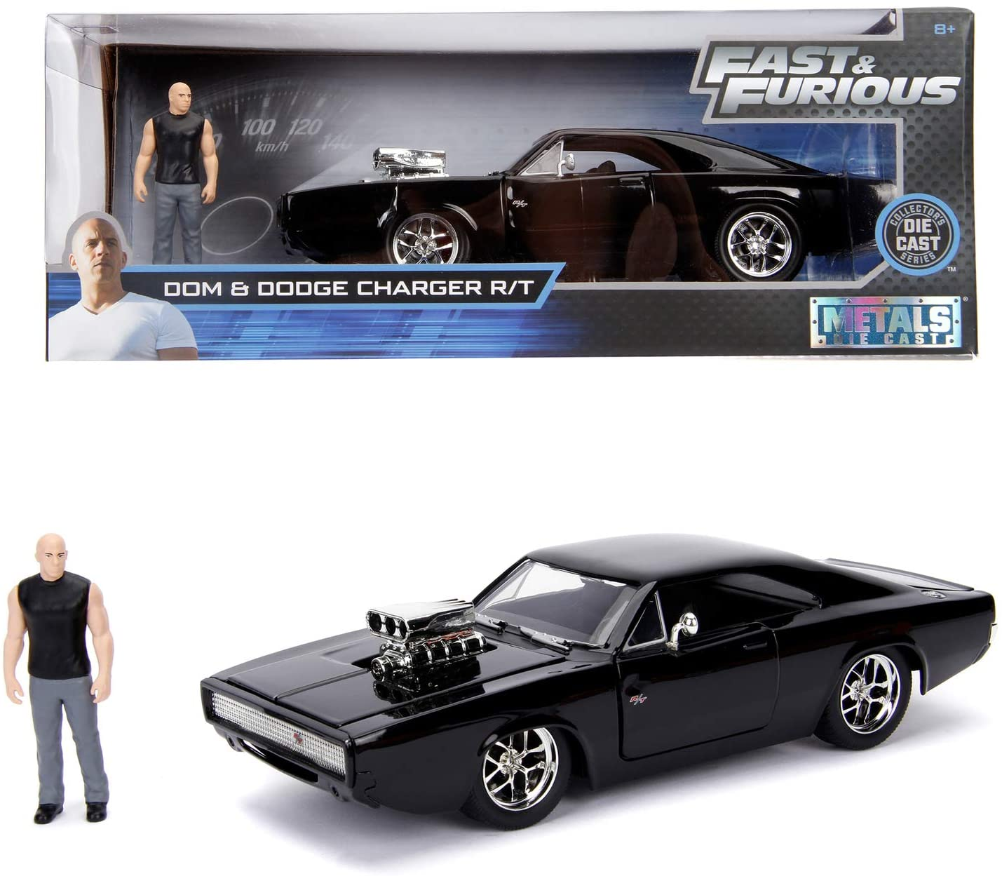 Jada Toys Fast Furious 1970 Dodge Charger Street 1 24 Toy Car Incl Dominic Toretto Figurine To Open Doors Boot Removable Bonnet Black Buy Online At Best Prices In Pakistan Daraz Pk