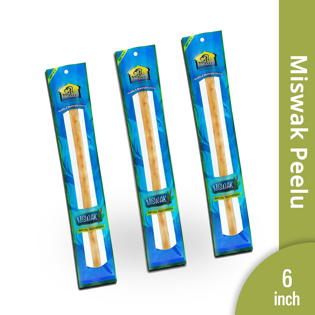 Peelu Miswak - 5 pcs bundle | Export Quality | 6' Inch | Thin |  Natural Toothbrush | Vacuum Packed |