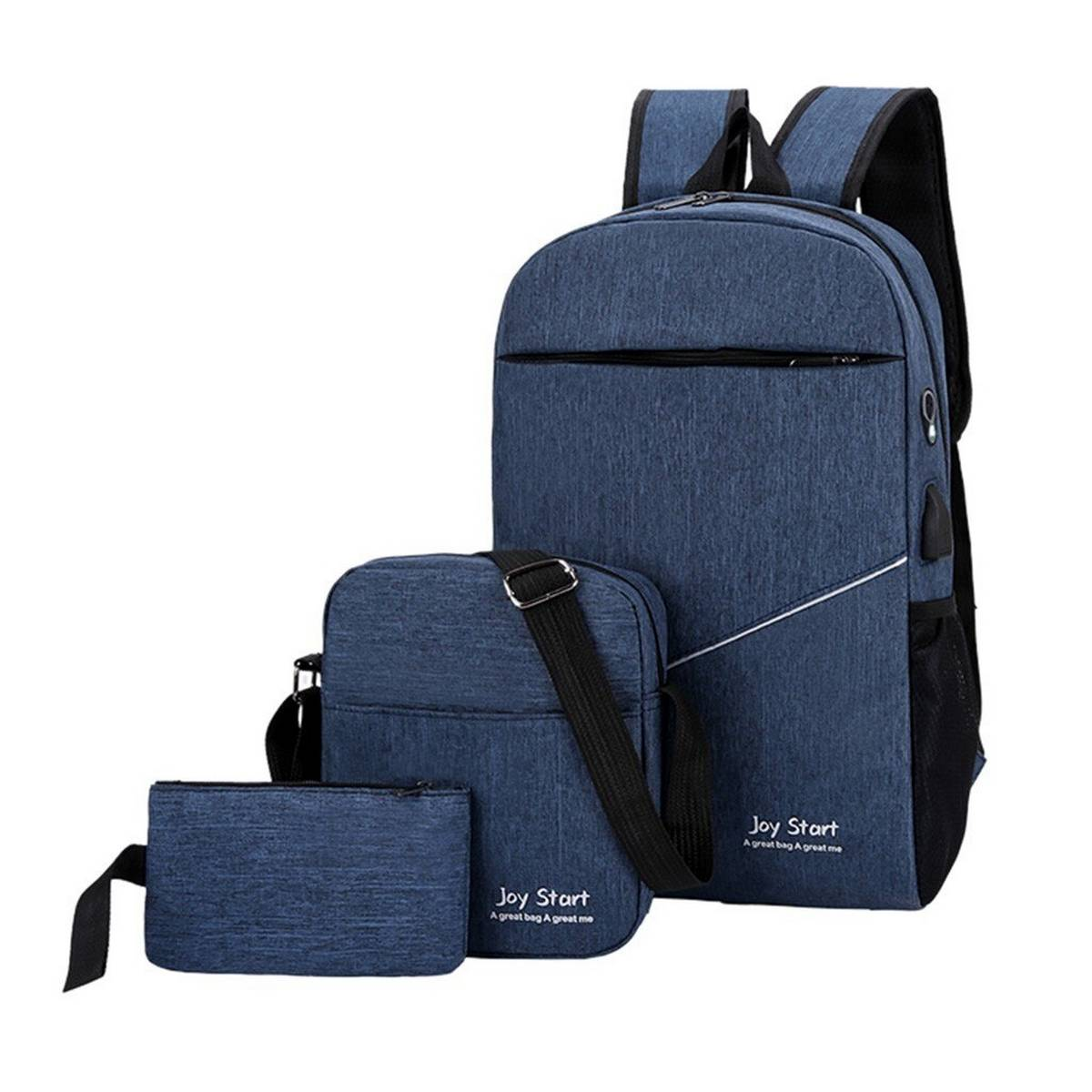 Joy Star 3 in 1 Mens School College University BackPack - High Quality Classic 3 Pcs Bagpack Laptop Bag for Girls/Boys