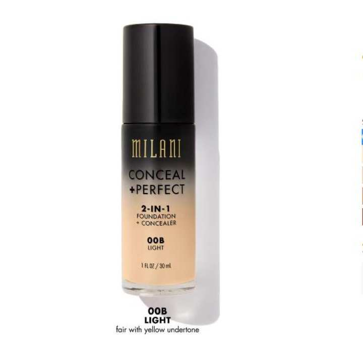 MILANI CONCEAL PERFECT 2-IN-1 FOUNDATION 00B Light