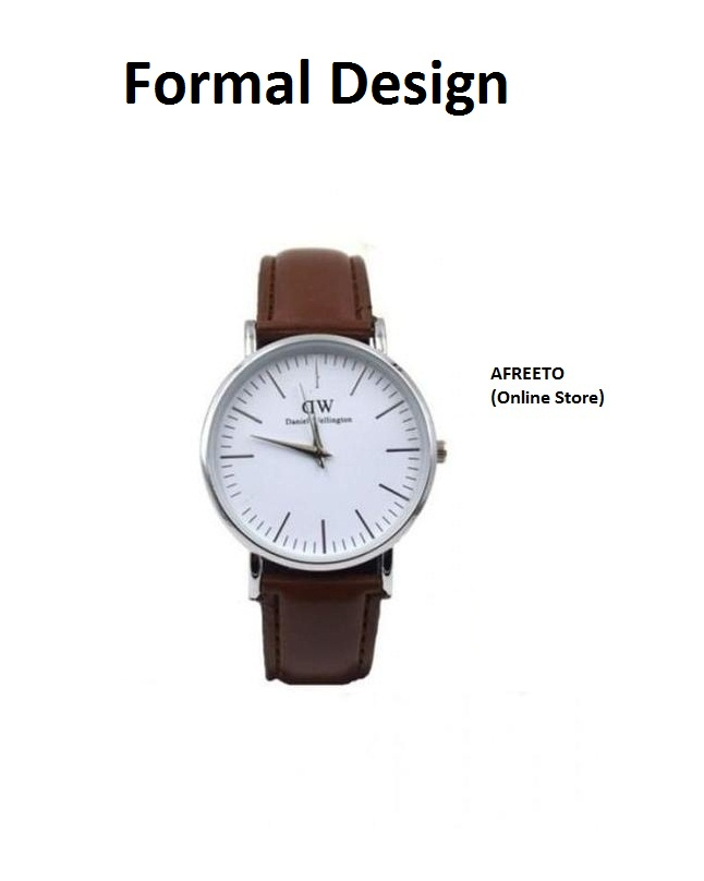 Formal Analog Watch Leather Strap Watches in nice packaging watch for man & boys
