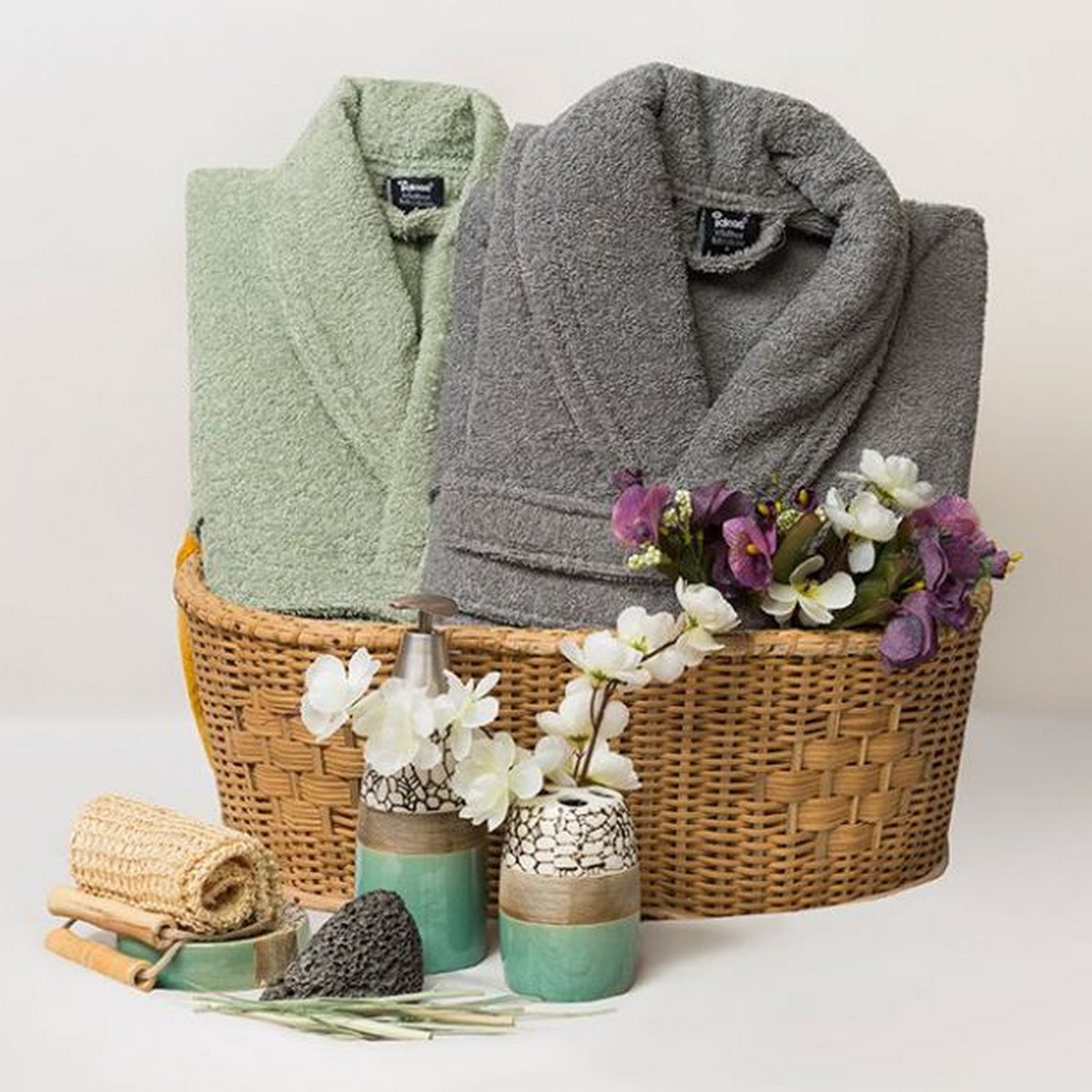 cotton bathrobe for men and women