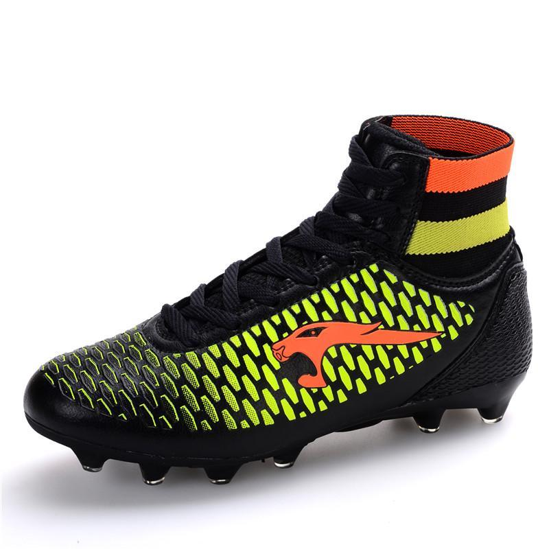 Original 2018 High Ankle Football Boots Men Sport Shoes Superfly Kids AG Football  Boots Socks Sneakers Mens Trainers  Buy Online at Best Prices in Pakistan  ... 337a397d217a