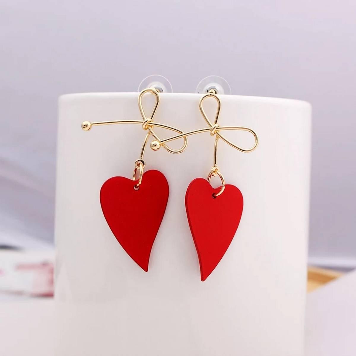 Heart Shapped Trendy Earrings