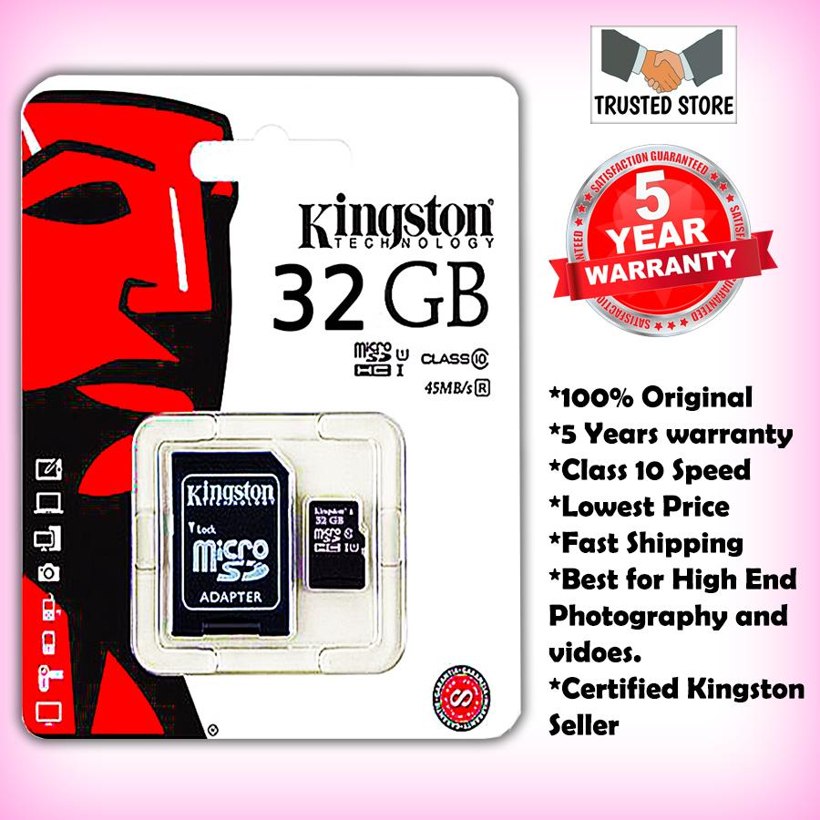 410c38b43 32GB Kingston Class 10 Memory Card - 32 GB Micro SDHC Card -100% Original
