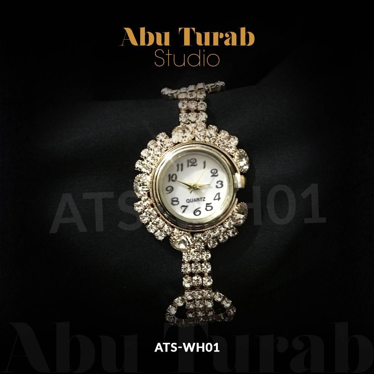 Abu Turab Studio - Luxury Women Watch Bling Bling Fashion Jewellery Crystal Diamond Rhinestone Ladies Watches Steel Band Round Dial Analog Clock Classic Quartz Female Charm Bracelet Dress Wristwatches